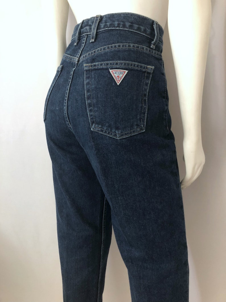new arrival 44aac 7375f Vintage Women's 80's Guess Jeans, High Waisted, Dark Wash, Denim (M)