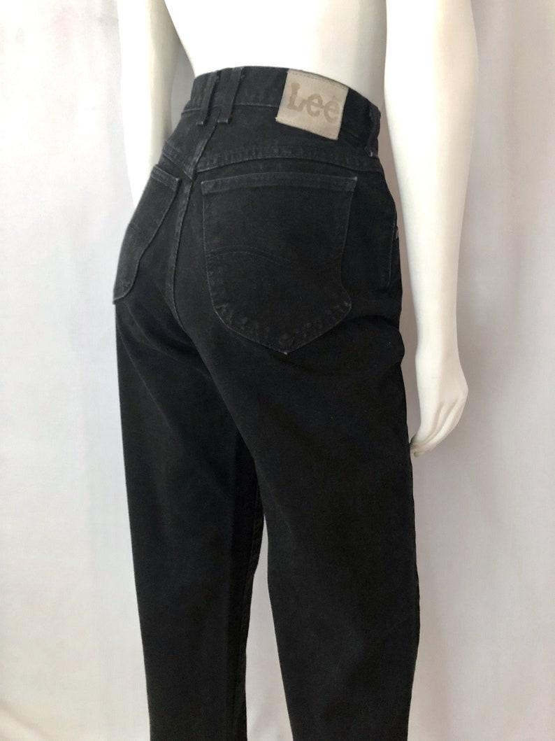 Vintage Women's 90's Black Lee Jeans High Waisted image 0