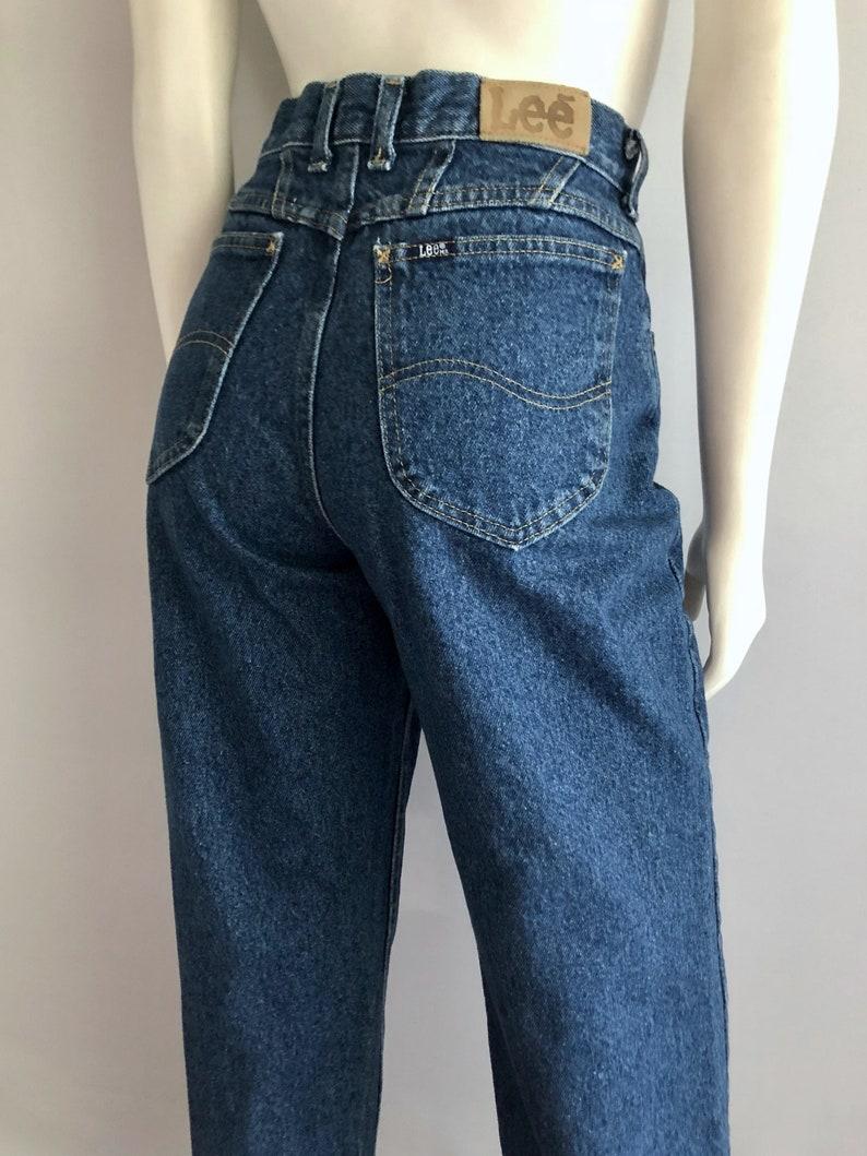 72ec575da Vintage Women's 80's Lee Jeans High Waisted Dark   Etsy