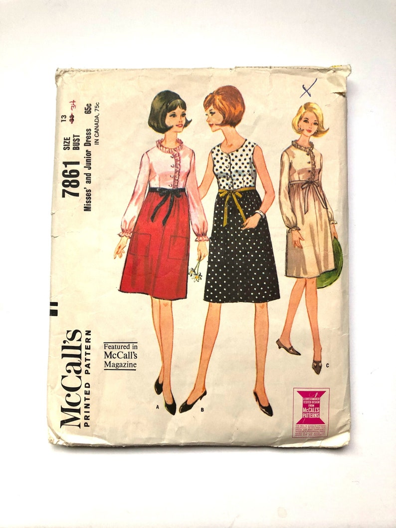 Vintage Sewing Pattern 60's McCall's 7861 High image 0