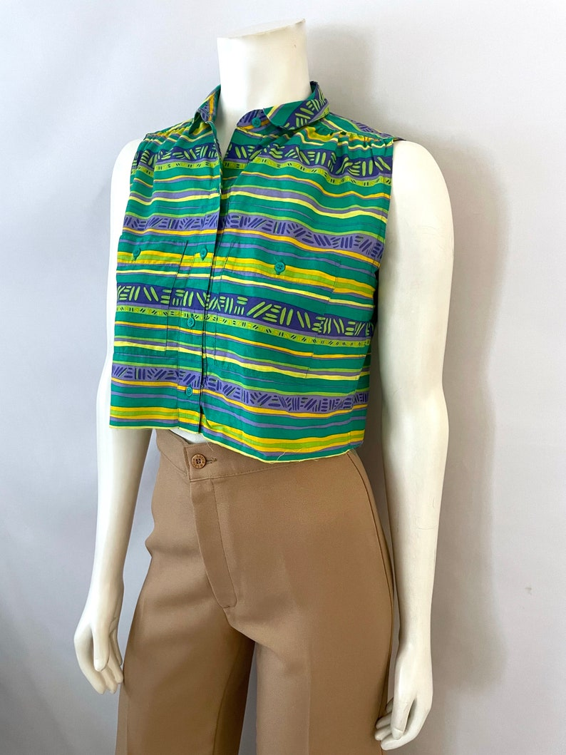 S Cropped Top Sleeveless Vintage Women/'s 90/'s Lizsport Petites