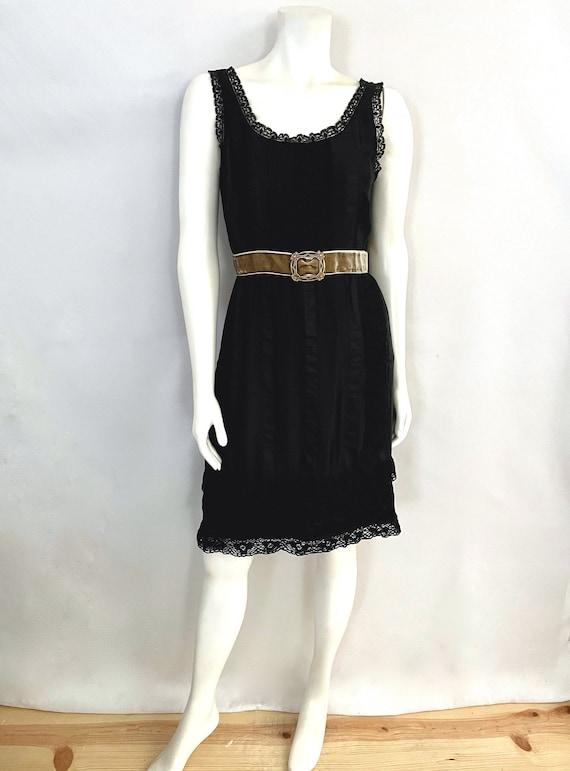 Vintage Women's 90's Anna Sui, Black, Silk, Lace,