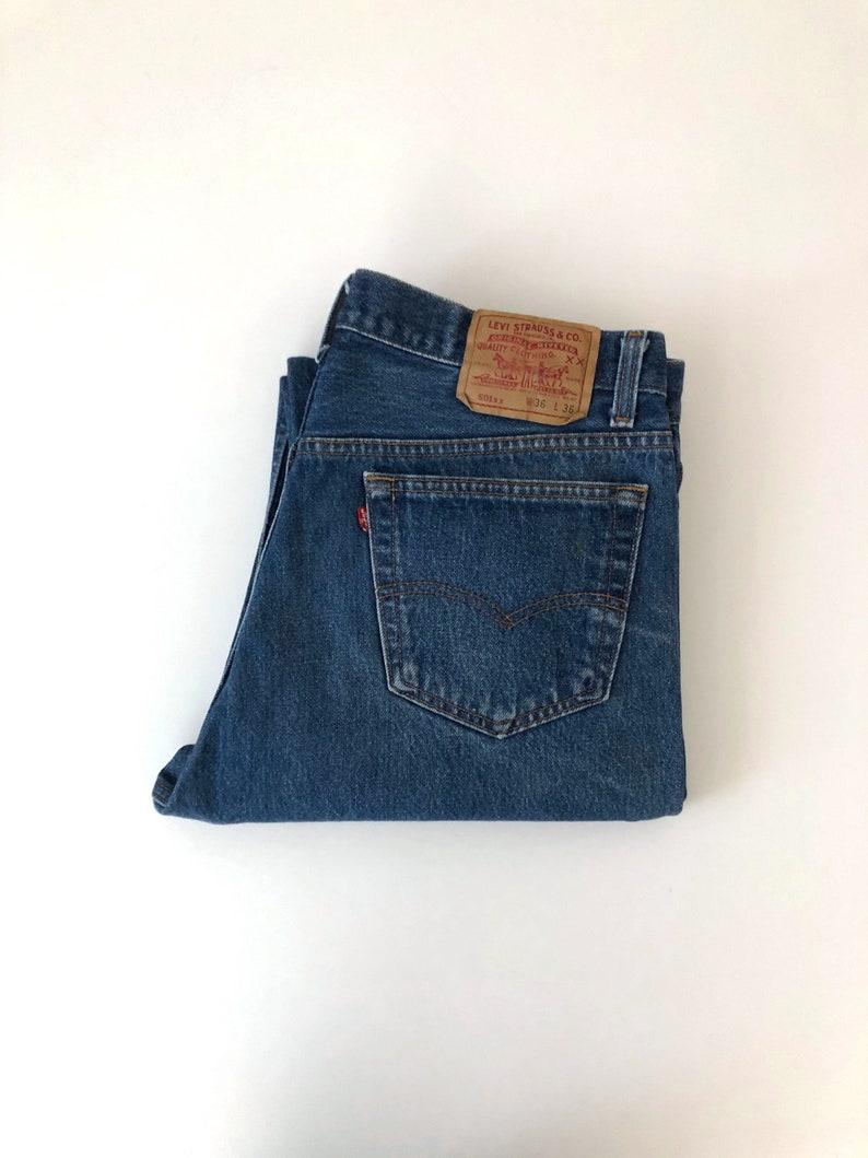3c124c4f Vintage Men's 80's Levi's 501XX Blue Jeans Red | Etsy