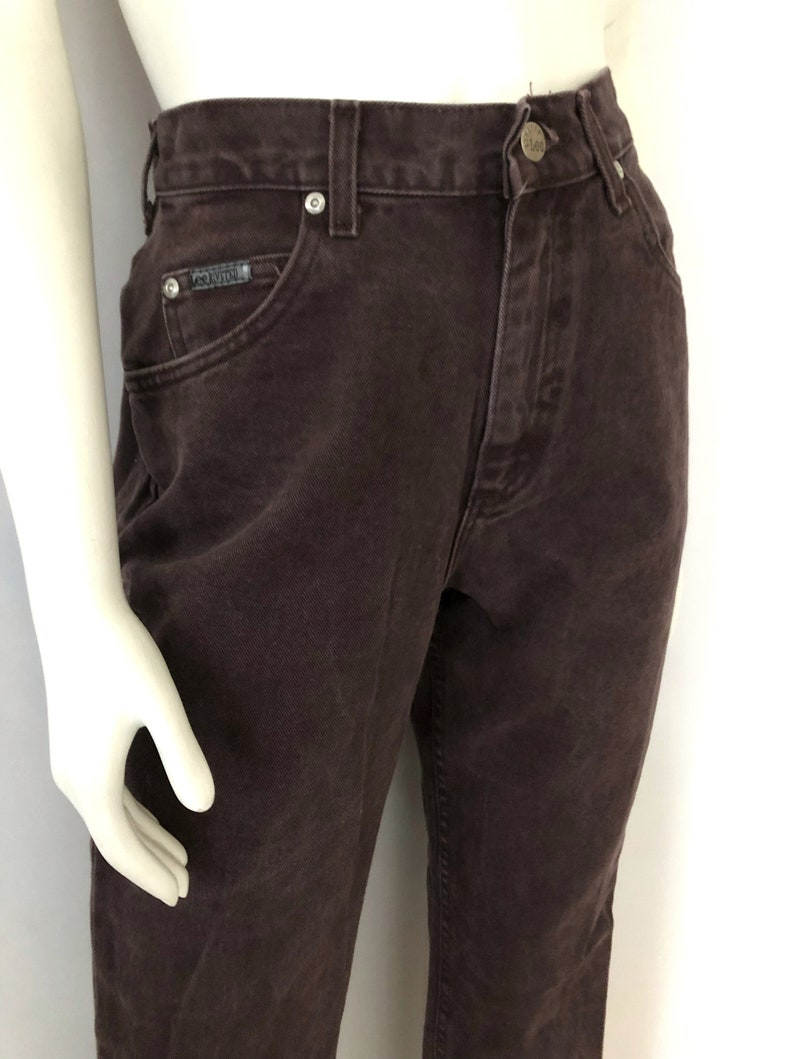 a117409e4 Vintage Women's 90's Lee Riveted Brown Jeans High   Etsy
