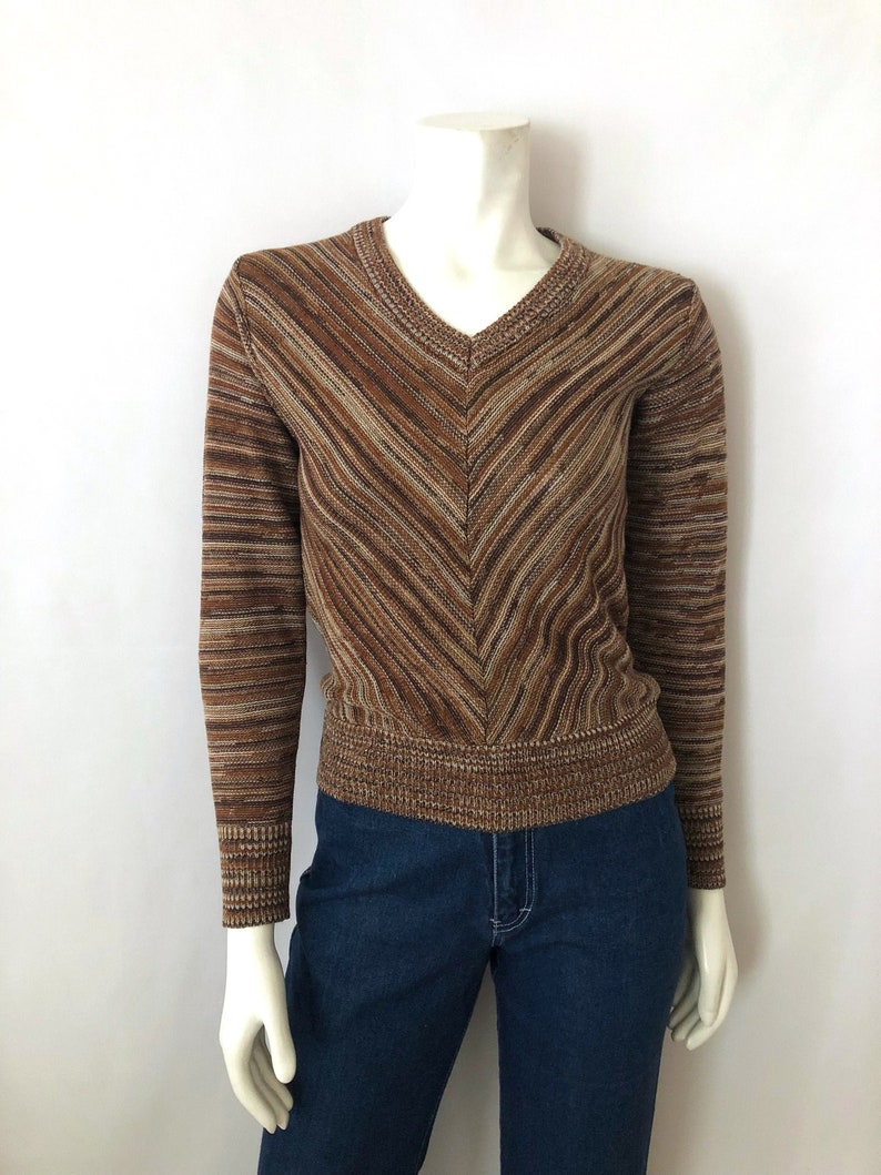 Vintage Women's 70's Boho Space Dyed Sweater Long image 0