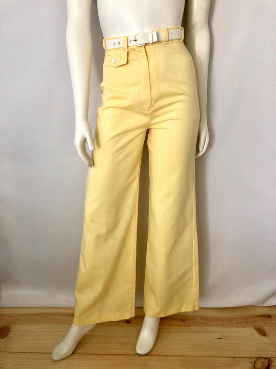Vintage Women's 70's Jantzen, Yellow, High Waisted
