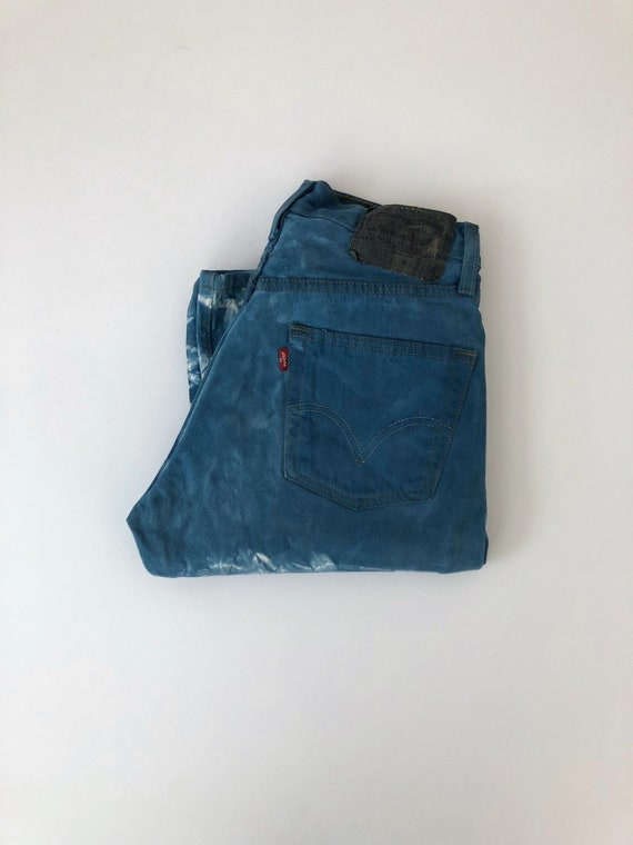 Vintage Men's 80's Levi's 501, Jeans, Blue, White,
