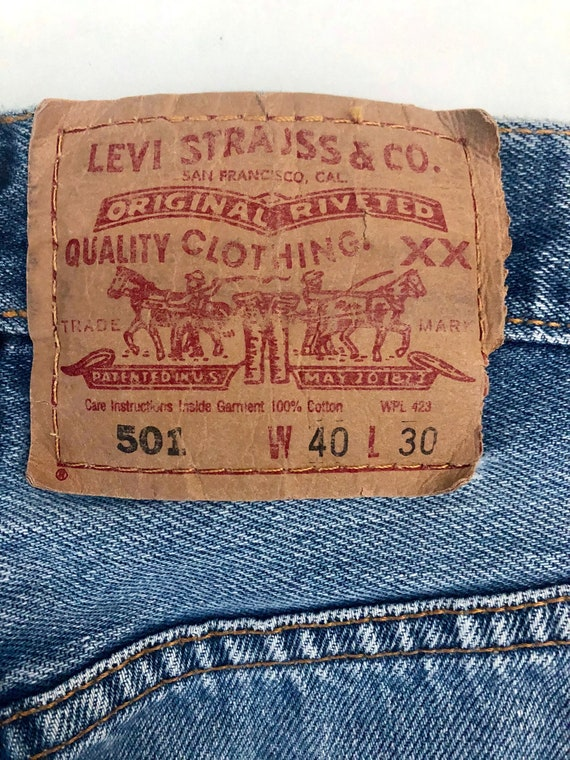 Vintage Men's 90's Levi's 501, Jeans, Distressed,… - image 6