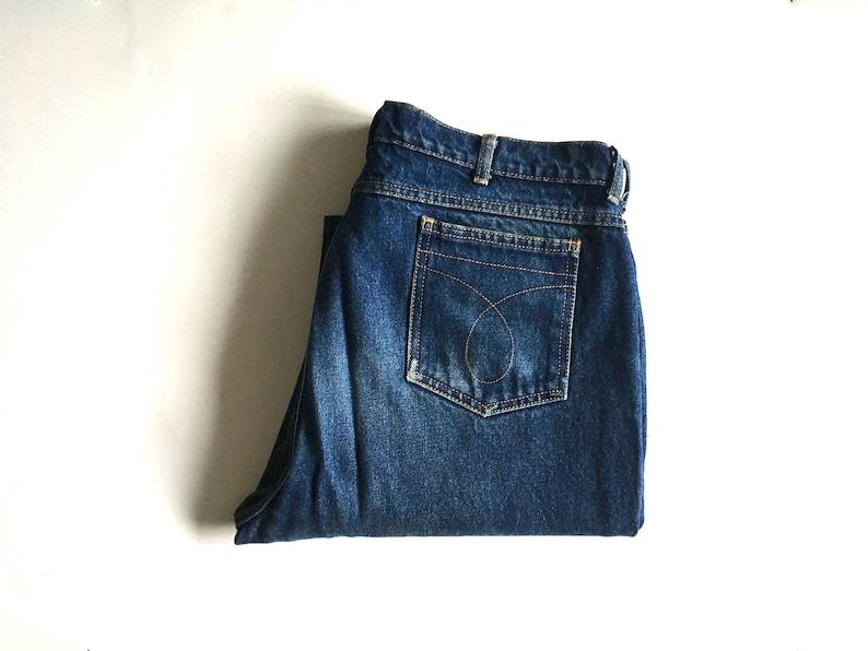 9f5620b9 Vintage Men's 70's Farah Jeans, Straight Leg, Dark Wash, Denim (W36)