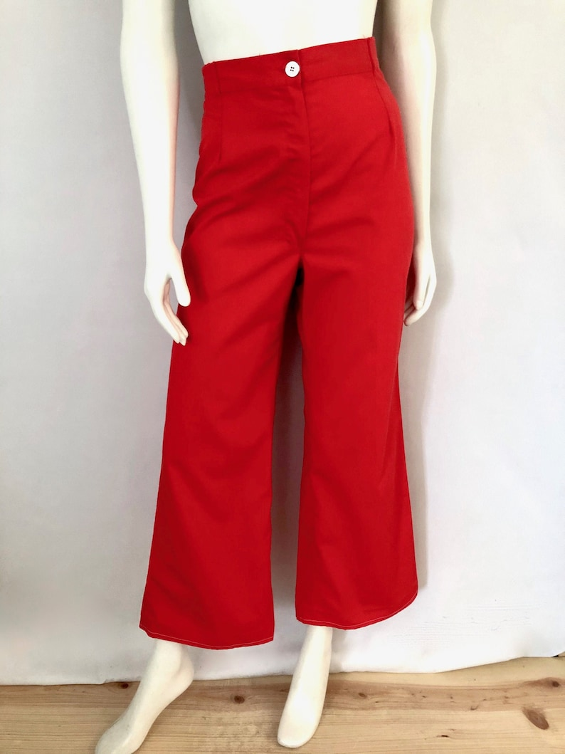 Vintage Women's 70's Wrangler Red High Waisted Wide image 0