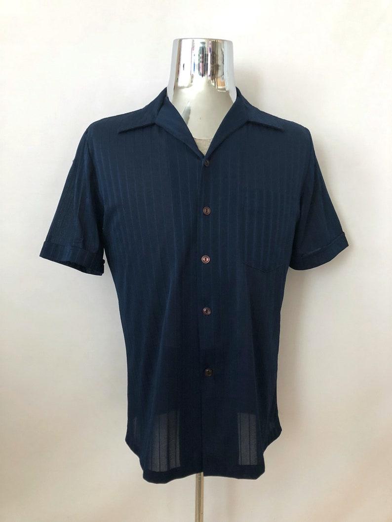 994b7da5c Vintage Men's 70's Disco Shirt Short Sleeve Button | Etsy