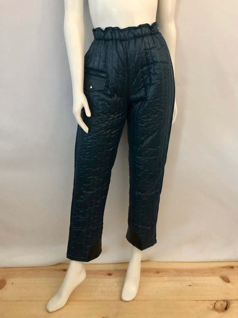 Vintage Women's 80's Petite Navy Blue High Waisted image 0