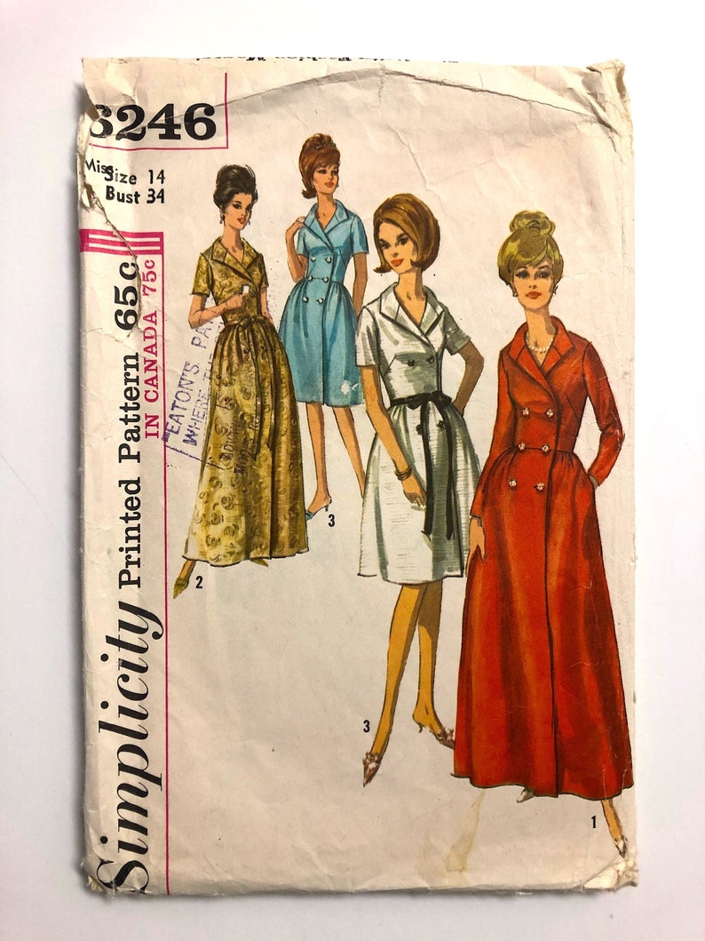 Vintage Sewing Pattern Women's 60's Simplicity 6246 image 0