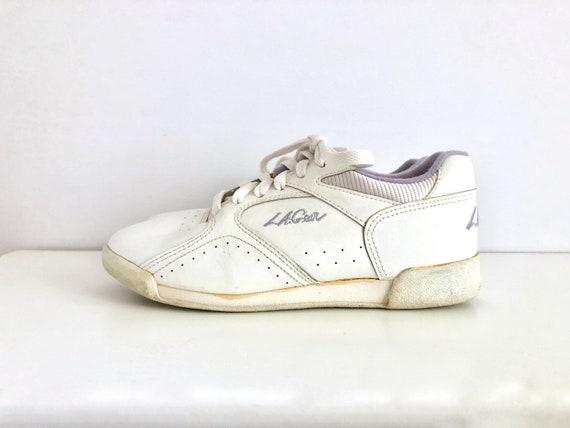 LA Gear White Leather   Etsy