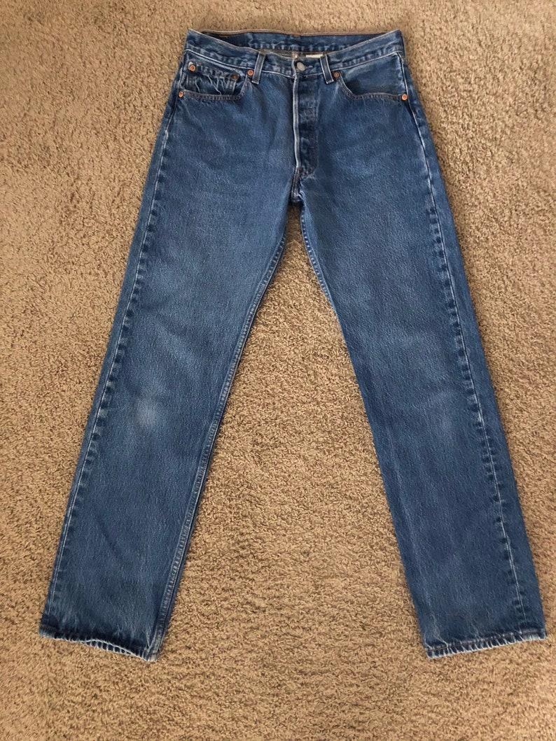 Denim Vintage Men/'s 90/'s Levi/'s 501XX Blue W30 Red Tab Jeans