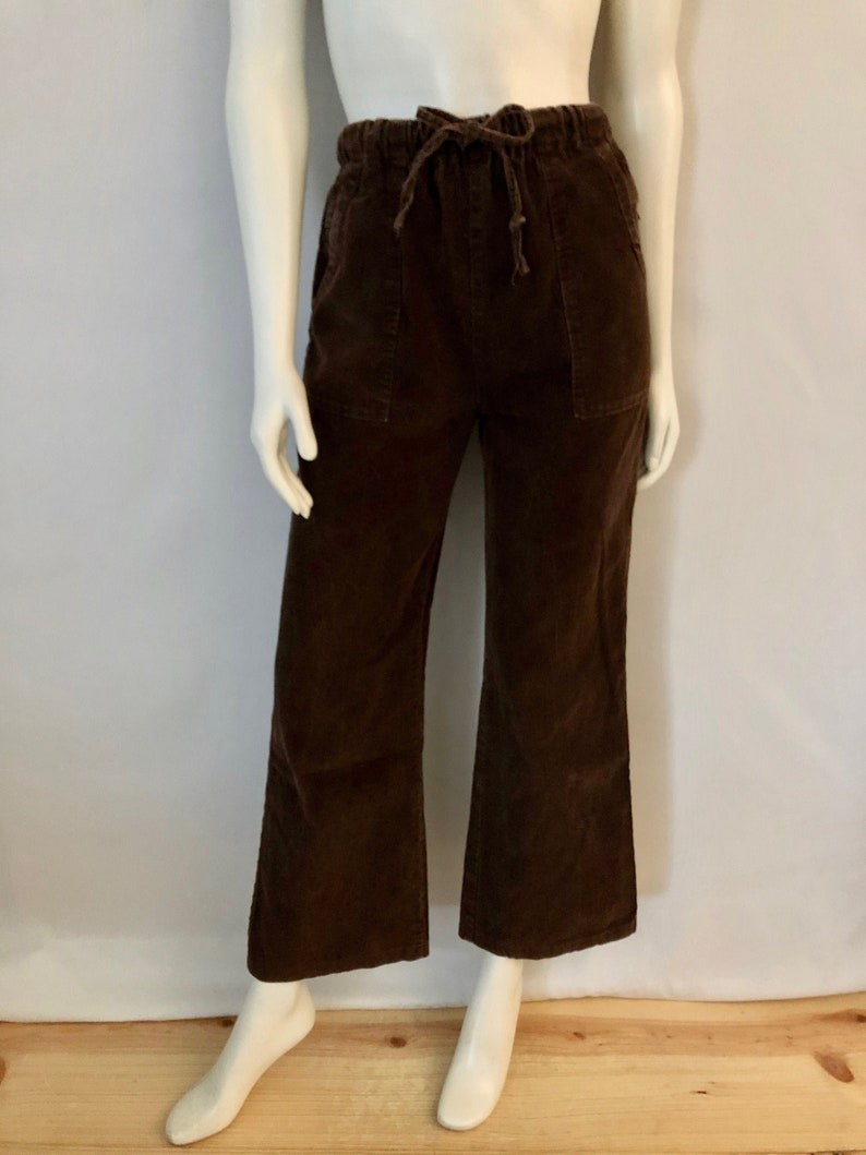 Vintage Women's 90's Brown High Waisted Corduroy image 0