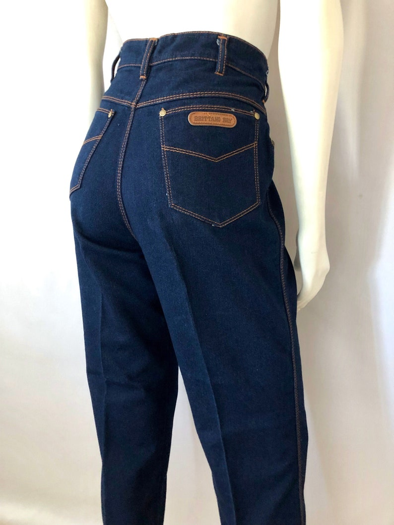 Vintage Women's 80's Dark Wash Jeans High Waisted image 0