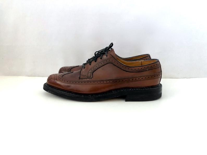 Vintage Men's Shoes 80's NOS Brown Leather image 0