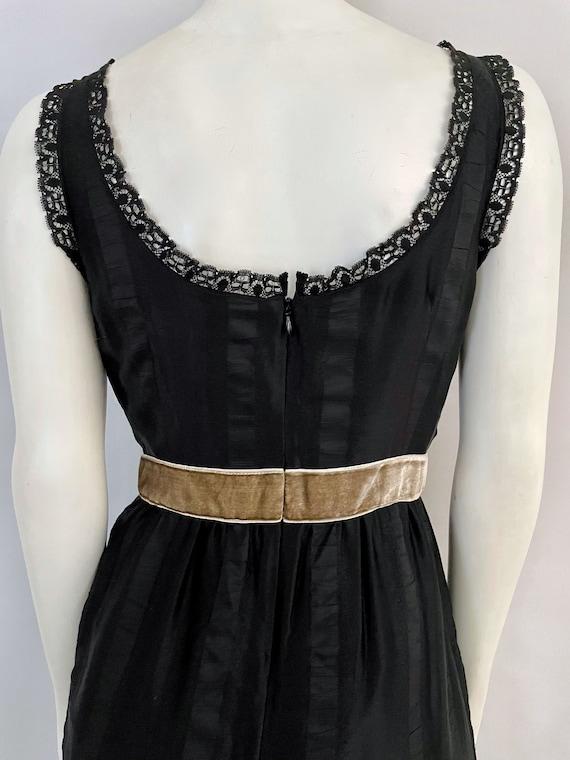 Vintage Women's 90's Anna Sui, Black, Silk, Lace,… - image 10