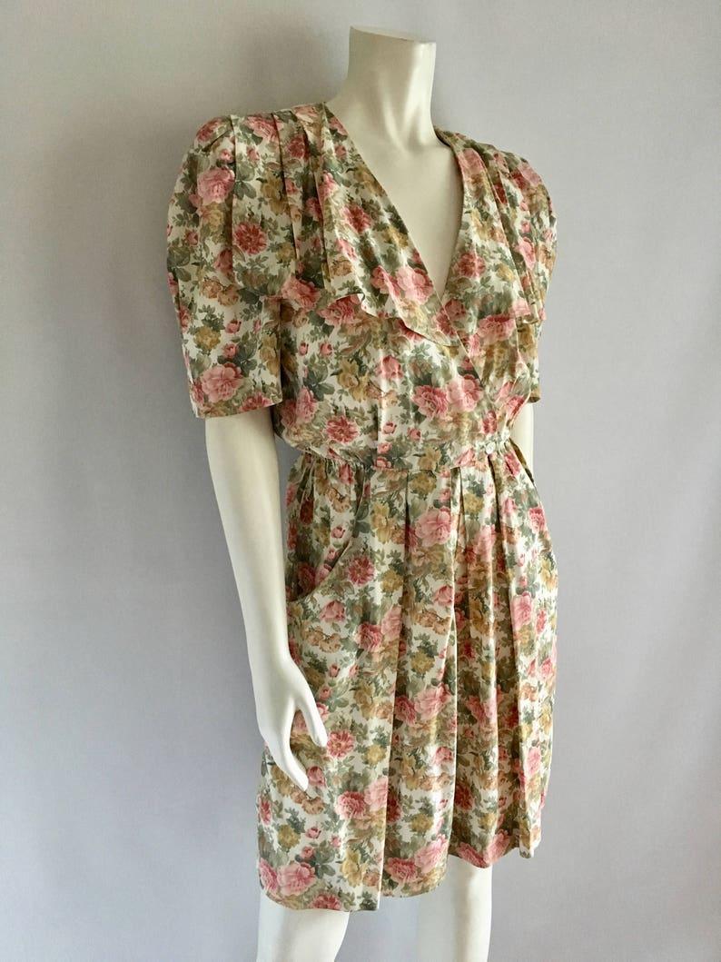 0cab774d7778 Vintage Women s 90 s Romper White Floral Short