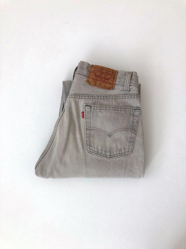 Vintage Men's 80's Levi's 501 Jeans Gray Red image 0