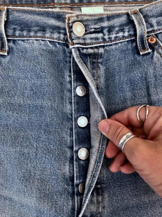 Vintage Men's 90's Levi's 501, Jeans, Distressed,… - image 4