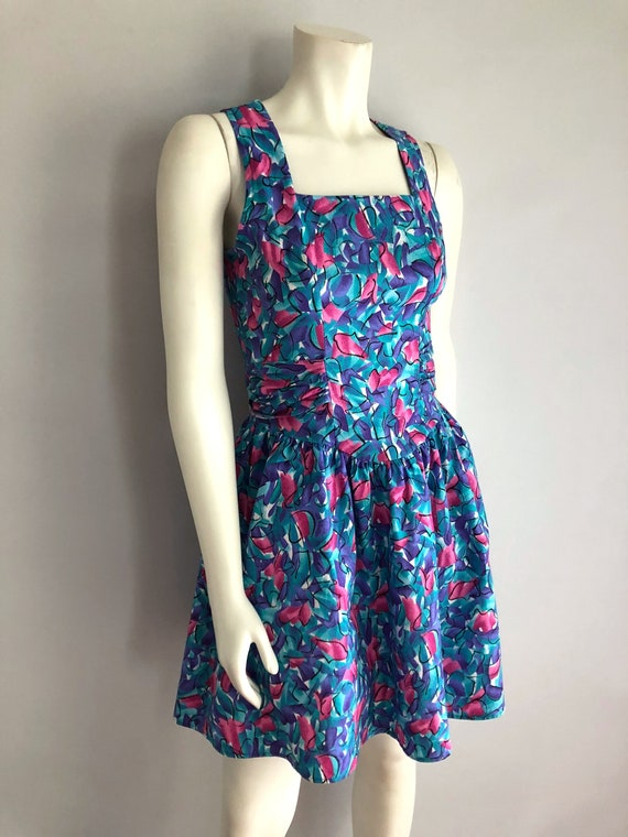 Vintage Women's 80's Floral Dress, Knee Length by
