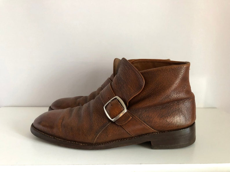 0f38f3fb59e66 Vintage Men's Shoes 80's Mod, Chelsea Boots, Brown, Ankle Boots by  Florsheim (Size: 10)