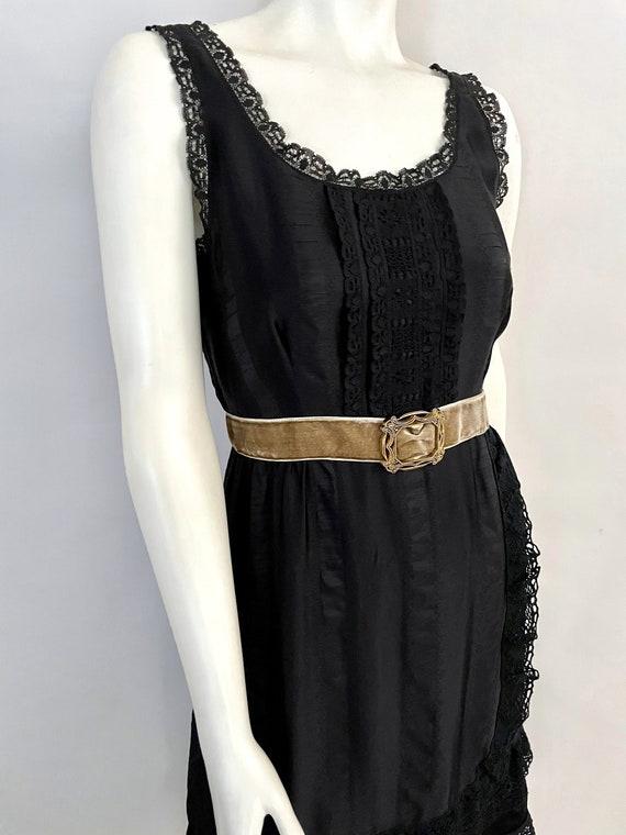 Vintage Women's 90's Anna Sui, Black, Silk, Lace,… - image 3