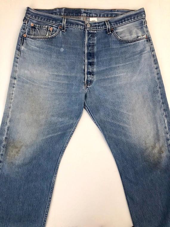 Vintage Men's 90's Levi's 501, Jeans, Distressed,… - image 2