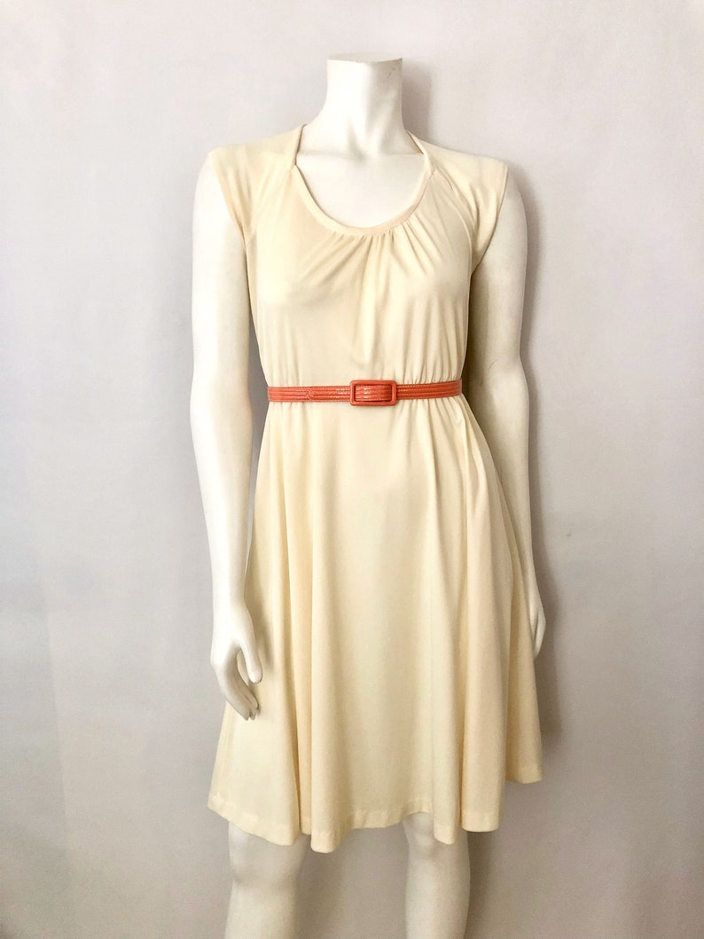 Vintage Women's 70's Boho Off White Polyester image 0