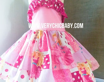 Girls Barbie Dress Etsy