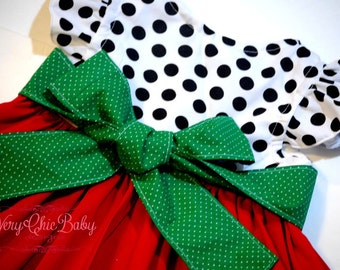 Christmas Dress Party Custom Flutter Holiday, Christmas Party Dress, Holiday Dress, Girls Christmas Outfit, Santa Picture Dress