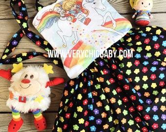 Rainbow Brite Dress, Rainbow Brite, Rainbow Brite Birthday Dress, Rainbow Brite Girls Dress, Rainbow Brite Baby Dress, Rainbow Brite Party