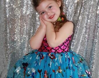 Mermaid Dress, Mermaid Costume, Ariel Dress, Little Mermaid Dress, Ariel Little Mermaid Costume, Mermaid Birthday Dress, Mermaid Tutu