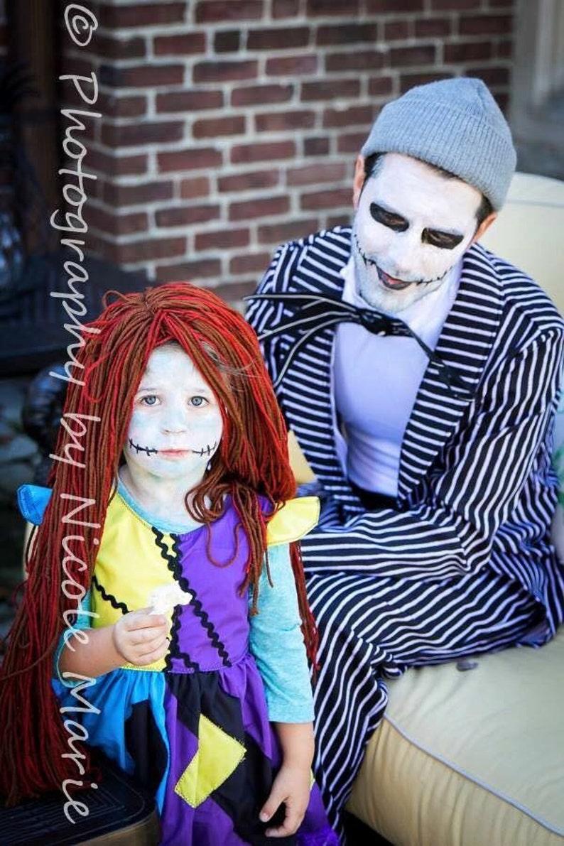 5d1d1653530 Sally Skellington Dress Costume Halloween Spooky Jack   Etsy