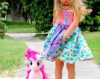 My Little Pony Dress, My Little Pony Birthday Outfit, My Little Pony Birthday Dress, MLP Dress, MLP Pink Dress Boutique Twirly Party Custom