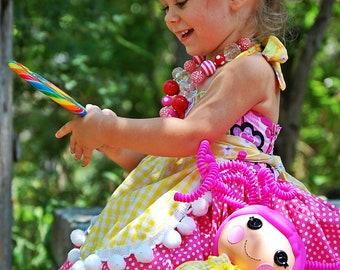 Lalaloopsy Dress, Lalaloopsy Birthday Dress, Crumbs Sugar Cookie Dress, Crumbs Sugar Cookie Costume, Lalaloopsy Costume, Lalaloopsy Crumbs