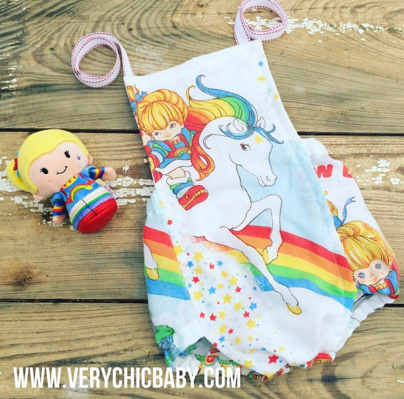 7a32f8642a16 Rainbow Brite Romper Rainbow Brite Baby Romper Baby Romper