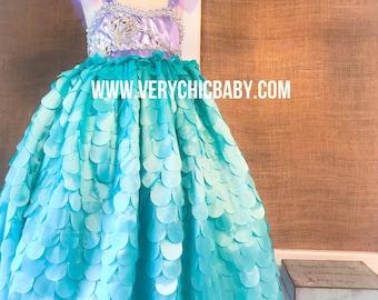 Mermaid Dress, Mermaid Dress Girls, Mermaid Costume, Ariel Dress, Little Mermaid Dress, Ariel Little Mermaid Costume, Ariel Costume