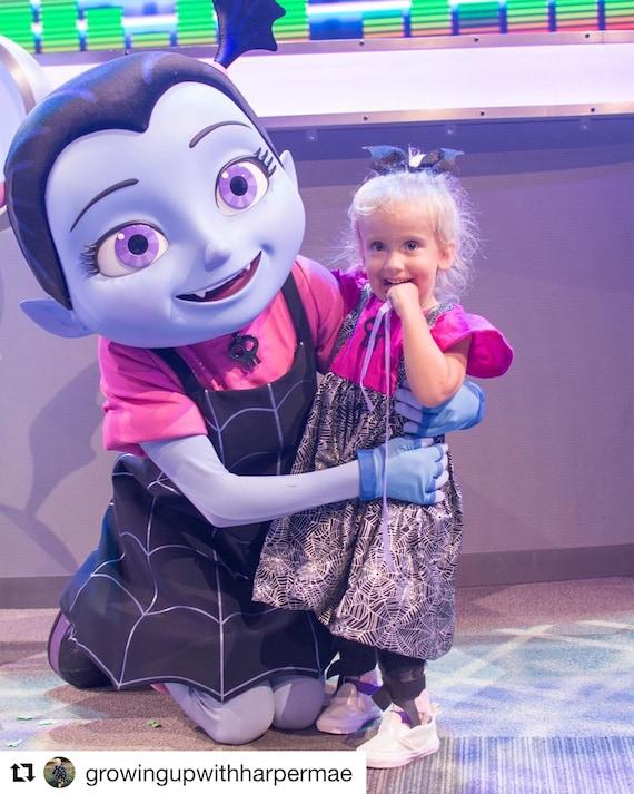 Is Vamirina At Mickeys Not So Scary Halloween Party 2020 Vampirina Birthday Outfit Vamprina Dress | Etsy