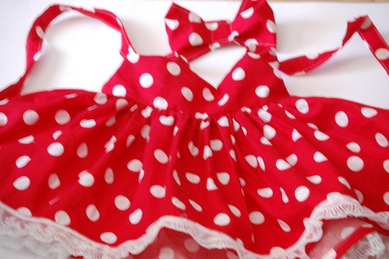 Minnie Dress Little Girls Dress Minnie Mouse Costume Minnie Mouse Dress Minnie Mouse Party Dress Minnie Mouse Red Polka Dot Dress