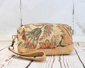 Wristlet purse, small clutch, small purse, cork purse, cork wristlet