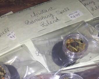 Instant Banishing Herbal Incense Spell Blend Kit