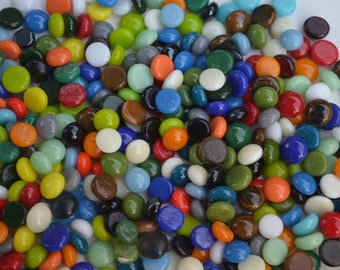 Fusible Glass Dots. COE 90. 7-9mm in size. Choice of color. Bullseye Glass. Fused Glass. Fused Glass Supply.Mosiac Supply. PMC supply. Glass