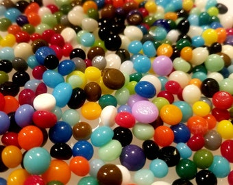 Fusible Glass Dots. COE 90. 3-4mm in size. Choice of color. Bullseye Glass. Fused Glass. Fused Glass Supply.Mosiac Supply. PMC supply.Glass