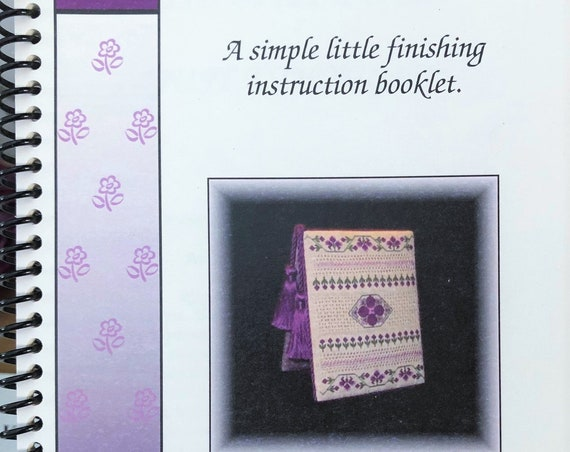 """Needlework Finishing Booklet """"The Flat Fold"""" by JUST A THOUGHT from Judy Odell - Stuff and Stand Instructions - Easel"""