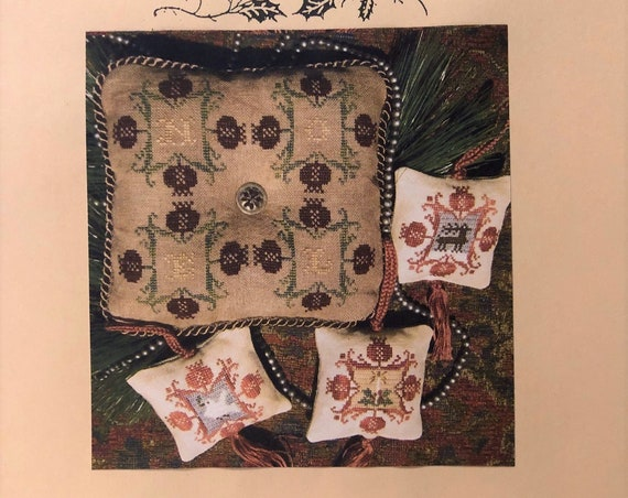 Majestic Christmas III:  Pomegranate Holidays - Cross Stitch Pattern by HOMESPUN ELEGANCE Ornaments