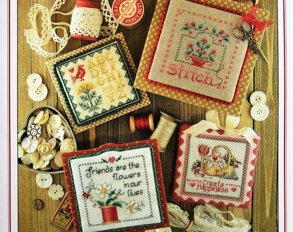 Keepsakes Book Two- Cross Stitch Pattern by SUE HILLIS DESIGNS - Flowers - Pincushion - Needlework Smalls - Mini Sampler