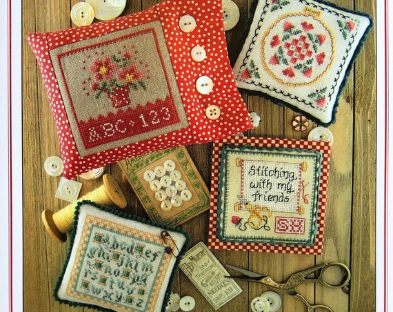 Keepsakes Book One - Cross Stitch Pattern by SUE HILLIS DESIGNS - Flowers - Pincushion - Needlework Smalls - Mini Sampler